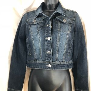 Earl Jeans Cropped Denim Jeans  Jacket sz S